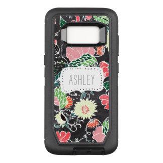 Coque Samsung Galaxy S8 Par OtterBox Defender Tableau floral tiré par la main de motif de