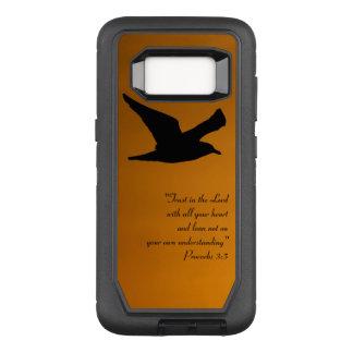 Coque Samsung Galaxy S8 Par OtterBox Defender Vers jaune de bible de foi d'oiseau de ciel de