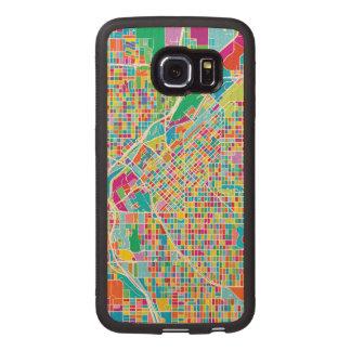 Coque Téléphonique En Bois Carte colorée de Denver