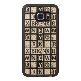 Coque Téléphonique En Bois Typographie grunge de Bronx New York  
