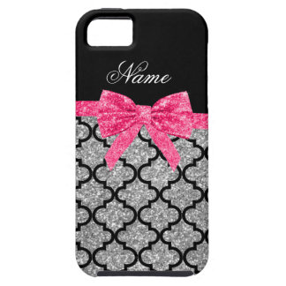 Coque Tough iPhone 5 Arc rose marocain de parties scintillantes