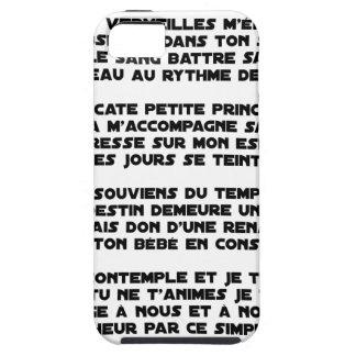 Coque Tough iPhone 5 DORS - Poème - Francois Ville