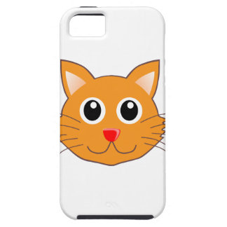 Coque Tough iPhone 5 Le chat orange au nez rouge