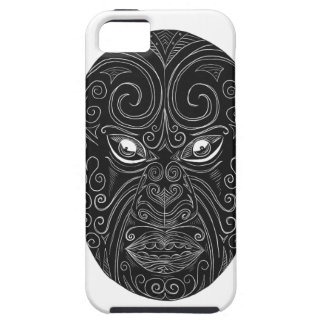 Coque Tough iPhone 5 Masque maori Scratchboard