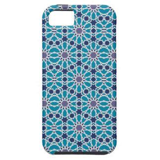 Coque Tough iPhone 5 Motif abstrait dans bleu et gris