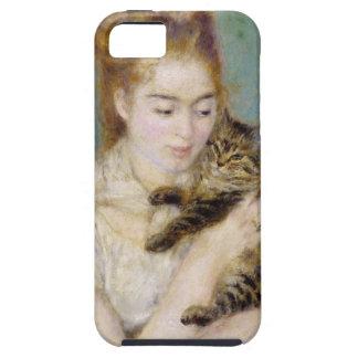 Coque Tough iPhone 5 Pierre une femme de Renoir | avec un chat