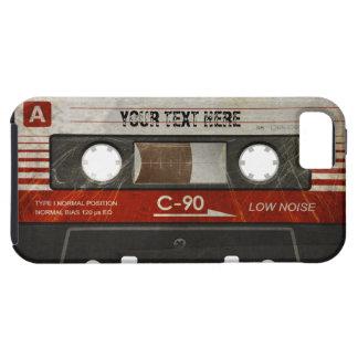 Coque Tough iPhone 5 Rétro caisse compacte rayée de cassette audio