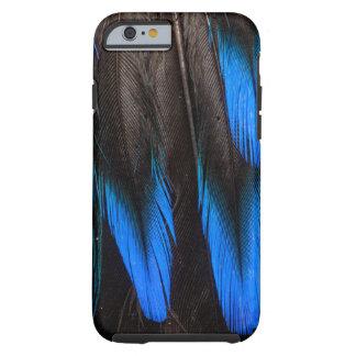 Coque Tough iPhone 6 Abrégé sur noir et bleu plume