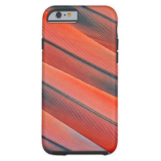 Coque Tough iPhone 6 Abrégé sur rouge plume d'ara