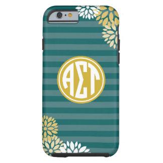 Coque Tough iPhone 6 Alpha motif de rayure de monogramme de Tau | de