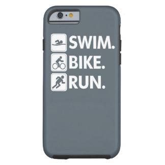 Coque Tough iPhone 6 Bain. Vélo. Courez… la fierté de triathlon
