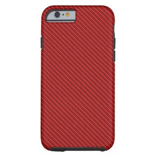 Coque Tough iPhone 6 Base blanche rouge de fibre