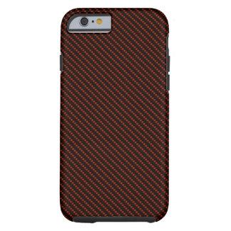 Coque Tough iPhone 6 Base rouge et noire de fibre
