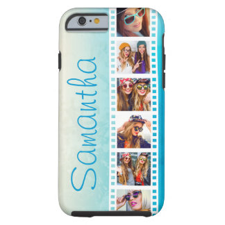 Coque Tough iPhone 6 Caisse dure grunge bleue à la mode Girly de