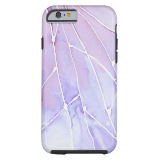 Coque Tough iPhone 6 Caisse pour aquarelle pourpre