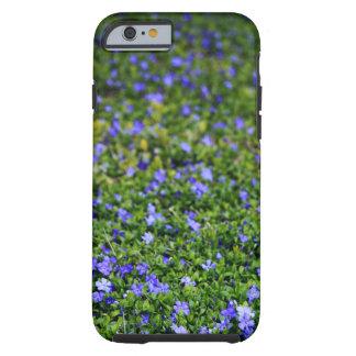 Coque Tough iPhone 6 Caisse pourpre de téléphone de Vinca de fleur