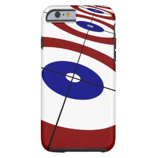 Coque Tough iPhone 6 Cas de bordage de téléphone portable d'anneaux