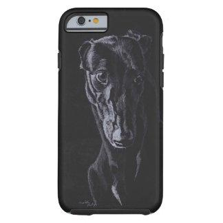 Coque Tough iPhone 6 Cas de téléphone d'art de chien de silhouette de