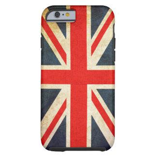 Coque Tough iPhone 6 Cas dur de l'iPhone 6 de rétro drapeau britannique