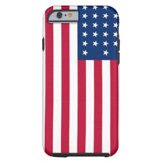 Coque Tough iPhone 6 Cas dur patriotique de l'iPhone 6 de drapeau