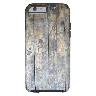 Coque Tough iPhone 6 Cas en bois antique de téléphone portable de