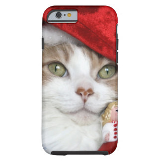 Coque Tough iPhone 6 Chat de Père Noël - chat de Noël - chatons mignons
