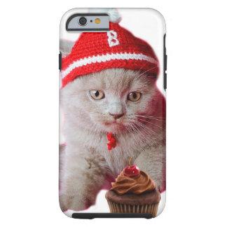 Coque Tough iPhone 6 Chat de petit gâteau - ange et démon - croquis de