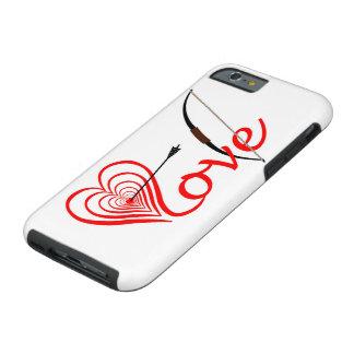 Coque Tough iPhone 6 Coeur amour Dartscheibe avec la flèche et le coude
