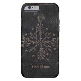 Coque Tough iPhone 6 Conception fleurie vintage de feuille d'or sur le