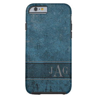 Coque Tough iPhone 6 Conception grunge rustique de livre bleu