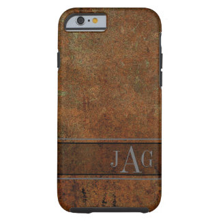 Coque Tough iPhone 6 Conception grunge rustique de livre de Brown