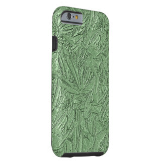 Coque Tough iPhone 6 Conception verte d'aluminium