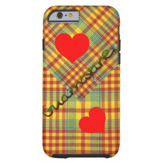 Coque Tough iPhone 6 Défilé MADRAS NOUVEAU > Coeur de Madras Guamayane®