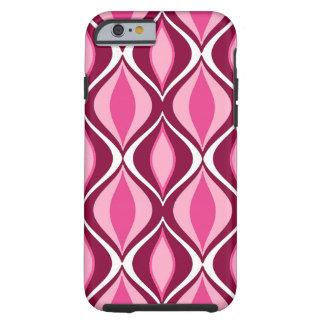Coque Tough iPhone 6 Diamants, Bourgogne et rose modernes de la moitié