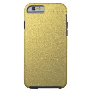 Coque Tough iPhone 6 Effet métallique d'aluminium d'or
