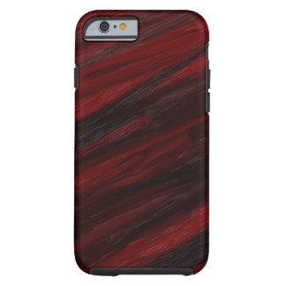 Coque Tough iPhone 6 Filets diagonaux rouges et noirs