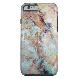 Coque Tough iPhone 6 Finition rose de pierre de marbre d'arc-en-ciel