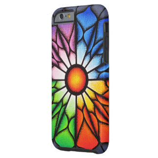 Coque Tough iPhone 6 Fleur colorée