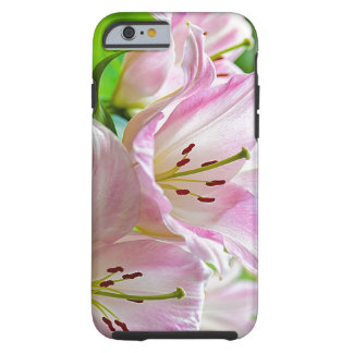 Coque Tough iPhone 6 Fleurs blanches mignonnes de rose assez en pastel