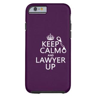 Coque Tough iPhone 6 Gardez le calme et l'avocat (toute couleur)