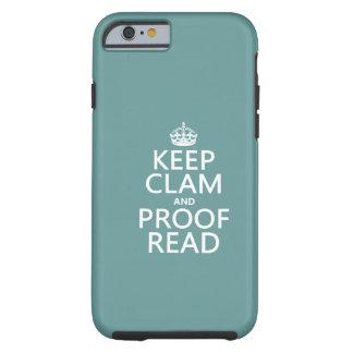 Coque Tough iPhone 6 Gardez le calme et le corrigez sur épreuves