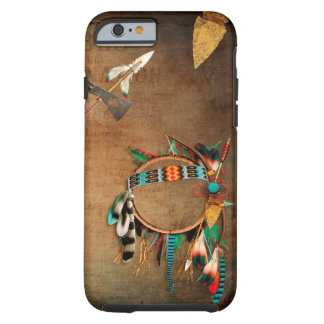 Coque Tough iPhone 6 Indien de pointe de flèche de Natif américain