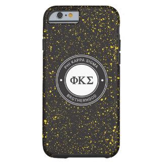 Coque Tough iPhone 6 Insigne du sigma   de Kappa de phi