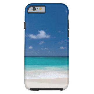 Coque Tough iPhone 6 L'eau tropicale de turquoise de plage