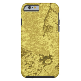 Coque Tough iPhone 6 L'électronique de pépite d'or de Faux