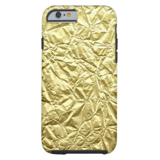 Coque Tough iPhone 6 L'électronique patttern chiffonnée d'or de faux