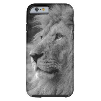 Coque Tough iPhone 6 Lion noir et blanc - animal sauvage