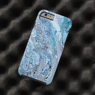 Coque Tough iPhone 6 L'ormeau bleu pourpre chic mignon Shell de Faux