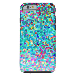 Coque Tough iPhone 6 Motif multicolore bleu coloré d'art abstrait