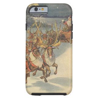 Coque Tough iPhone 6 Noël vintage le père noël Sleigh avec le renne